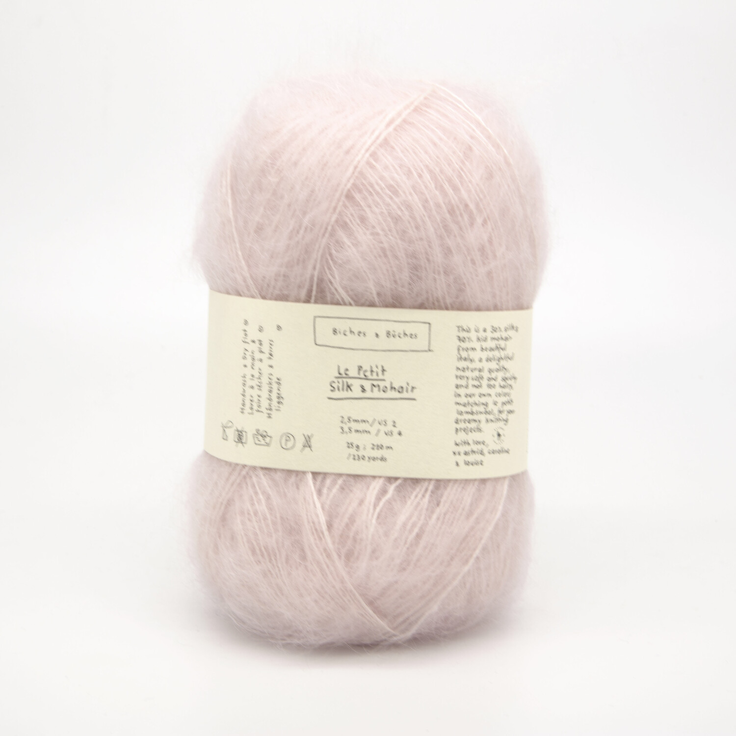 silk & mohair very light pink светло-розовый