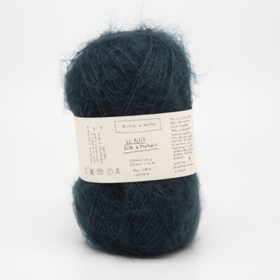 silk & mohair тёмно-синяя бирюза