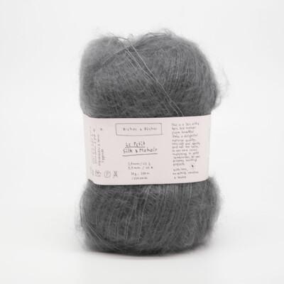 silk & mohair medium grey средне-серый
