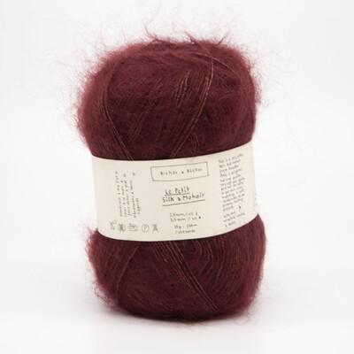 silk & mohair dark red тёмный красный