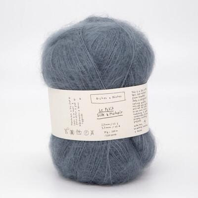 silk & mohair blue grey серо-голубой