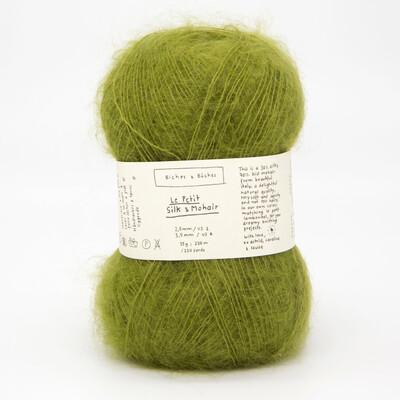 silk & mohair medium green grey средний зеленo-серый