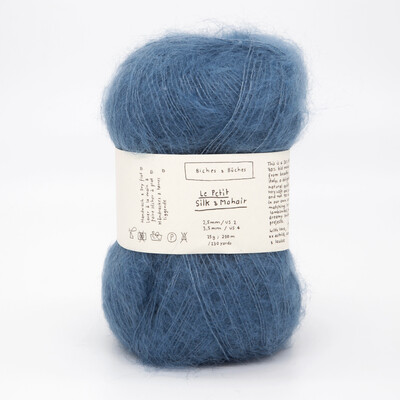 silk & mohair medium blue средний синий