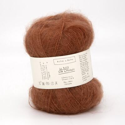 silk & mohair red brown красно-коричневый