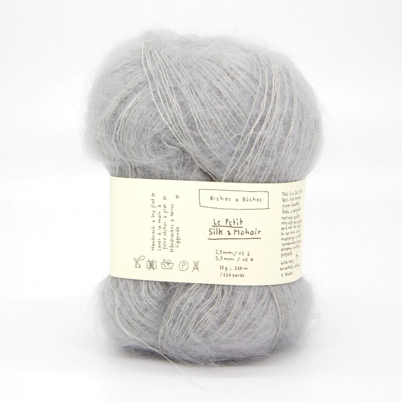 silk & mohair light grey светло-серый