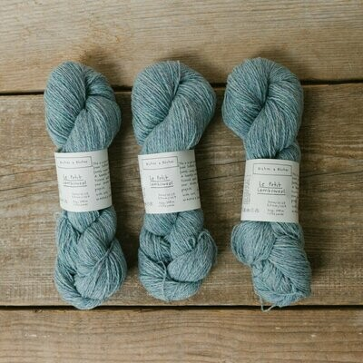 le petit lambswool green pink turquoise