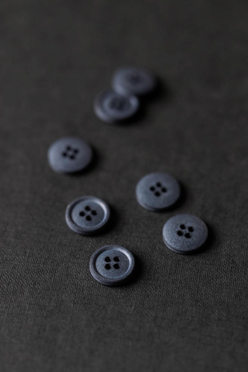 Хлопковые пуговицы 15mm – Silt Grey