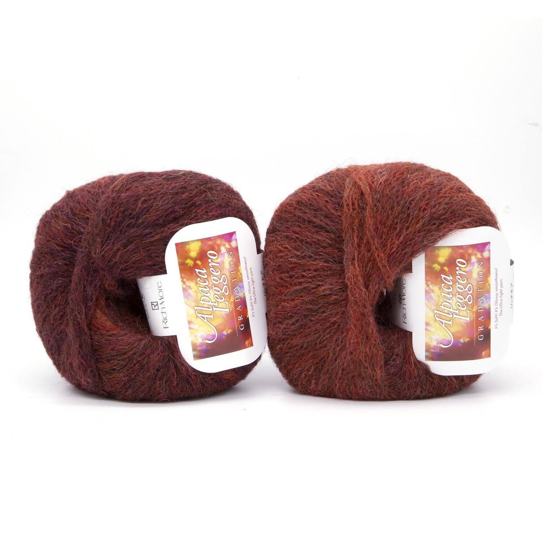 alpaca leggero рыжий/малиновый 106