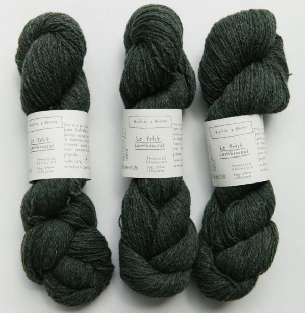 le petit lambswool dark blue green