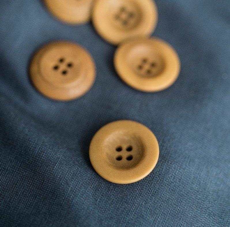 пуговицы corozo 22 мм gold
