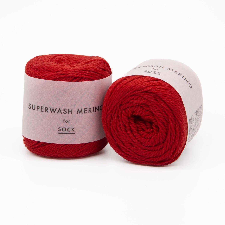 superwash merino красный 06