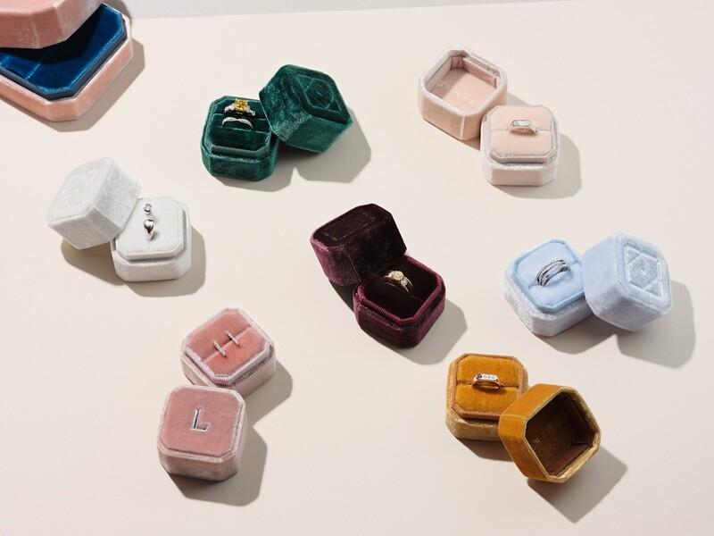 Luxe Velvet Ring/Earrings Box