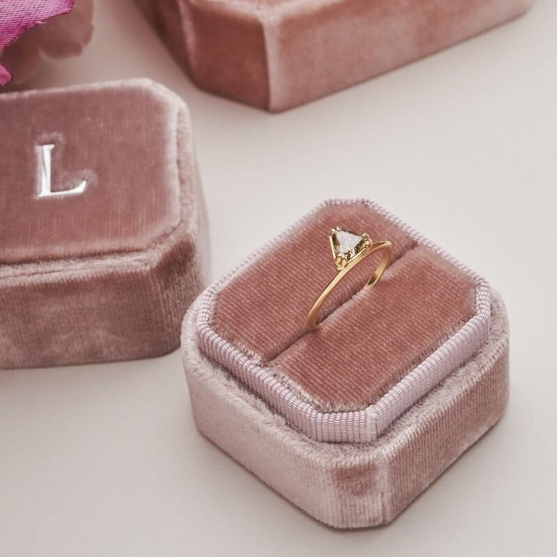 Petra Ring with Trillion Cut Champagne Diamond