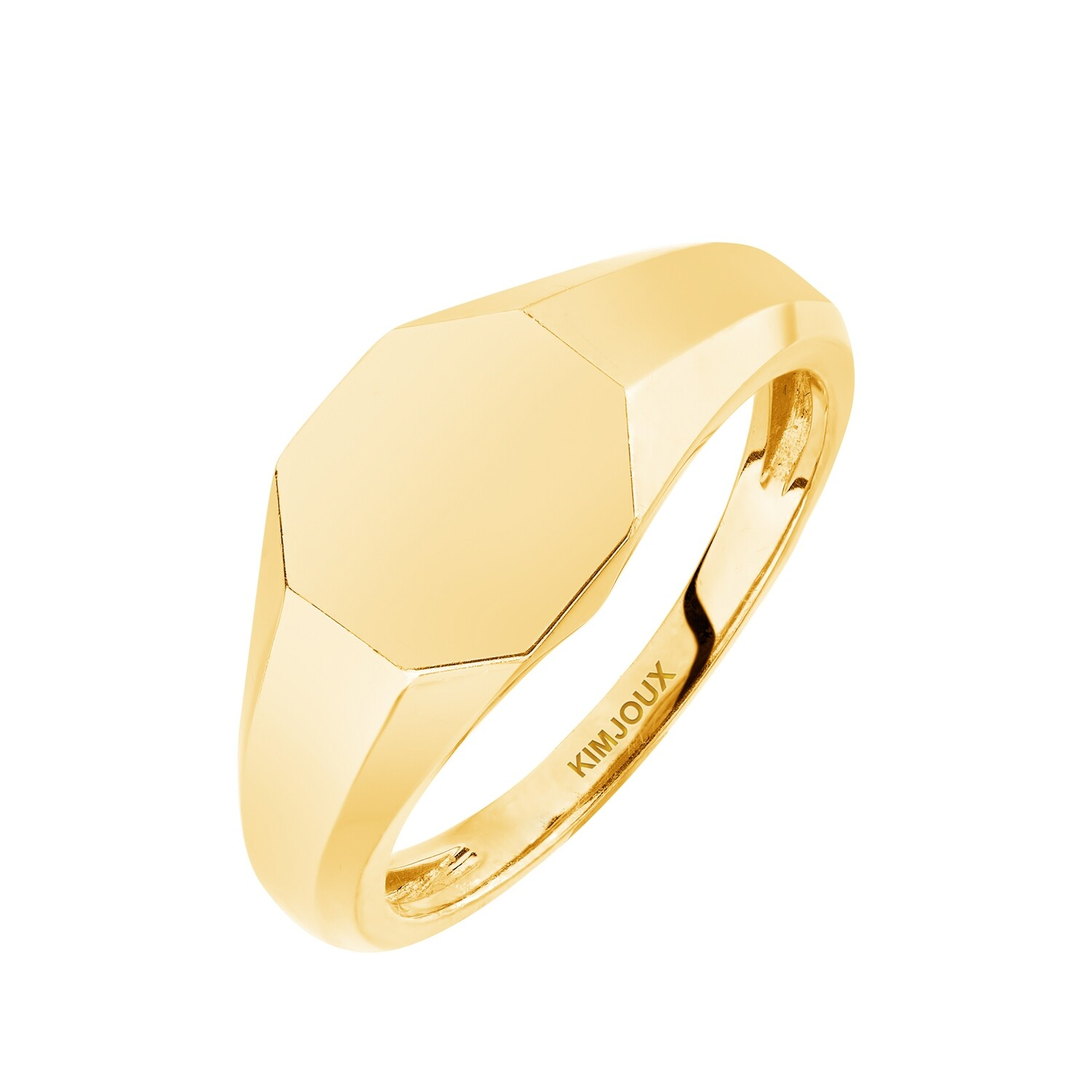 Kore Faceted Signet Ring