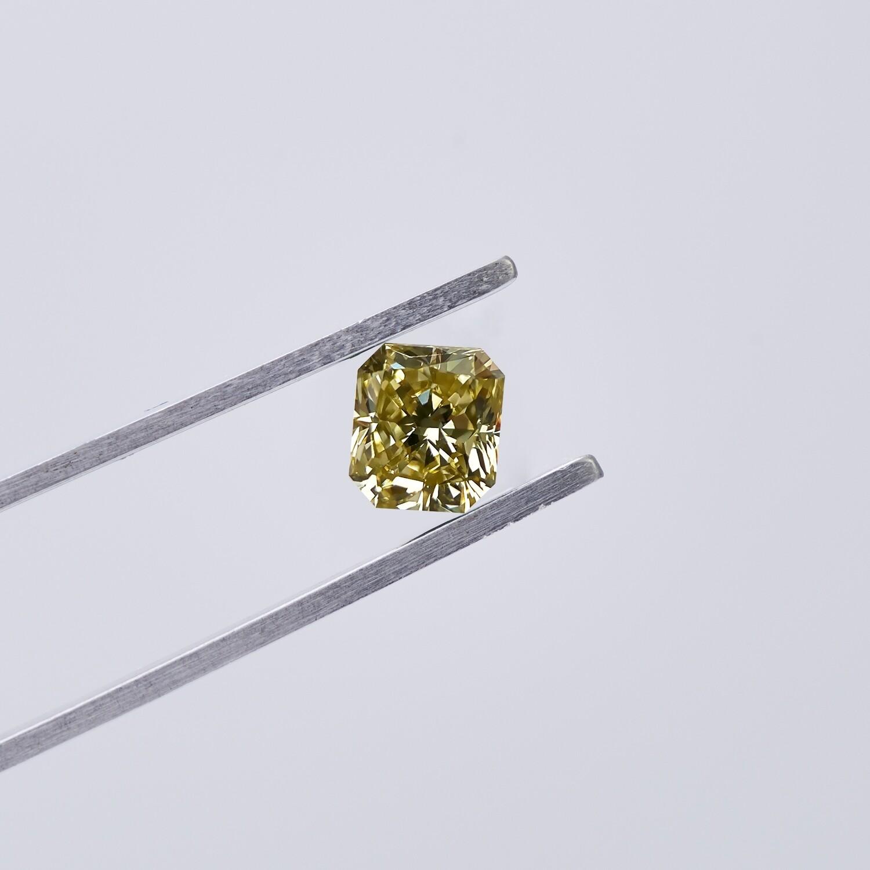 1.01ct Fancy Yellow Diamond Radiant Cut