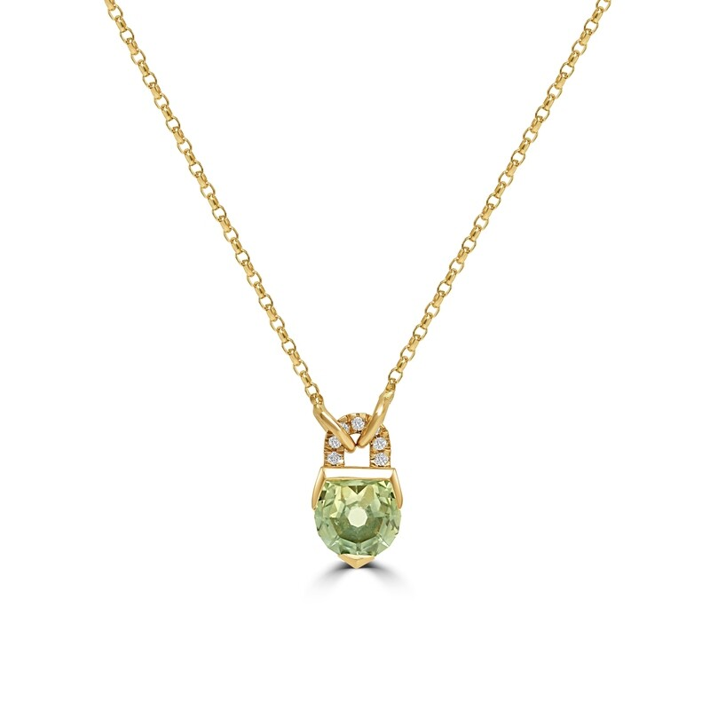 Lock in Your Luck Pendant with 1.28ct Montana Sapphire
