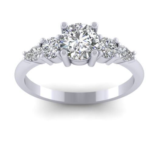 Bespoke Diamond Ring and Wedding Band for S.N - Deposit