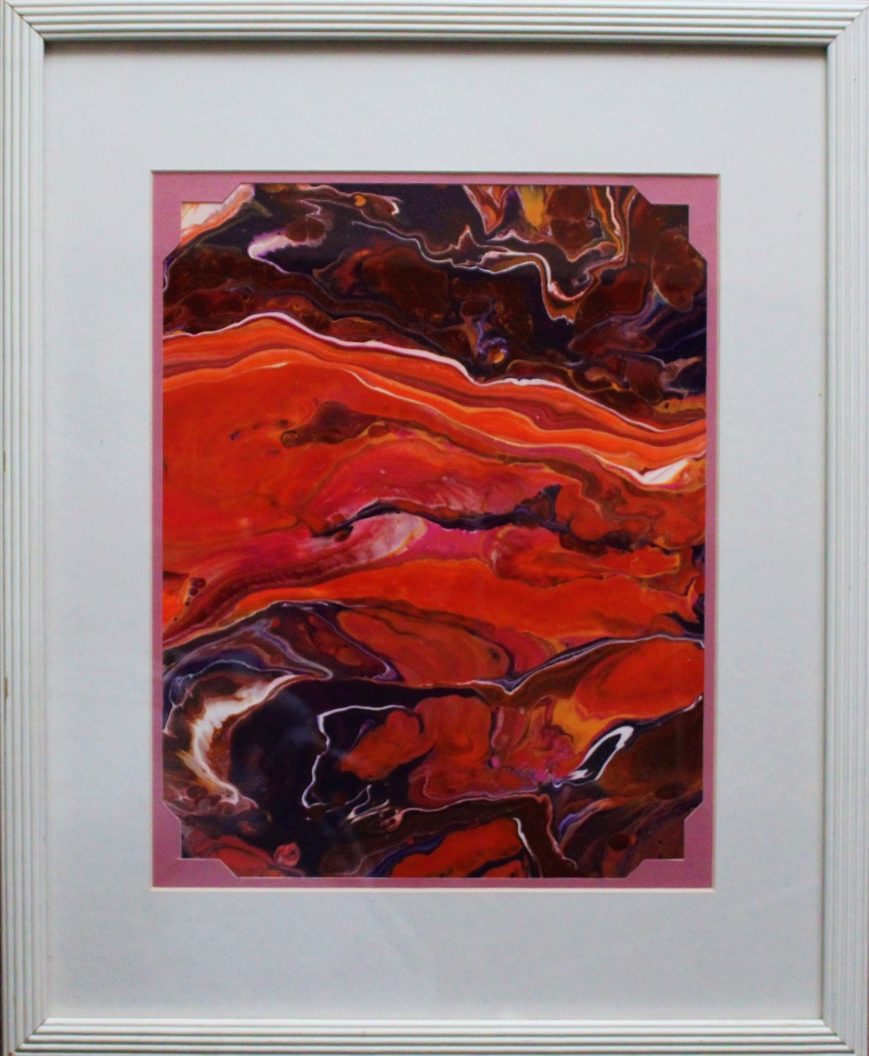 "18 X 22 ORIGINAL ABSTRACT PAINTING: ""ERUPTION"""