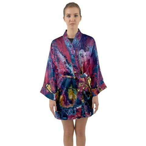 Satin Kimono - Long Sleeve