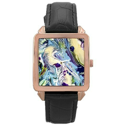 Rose Gold Leather Watch