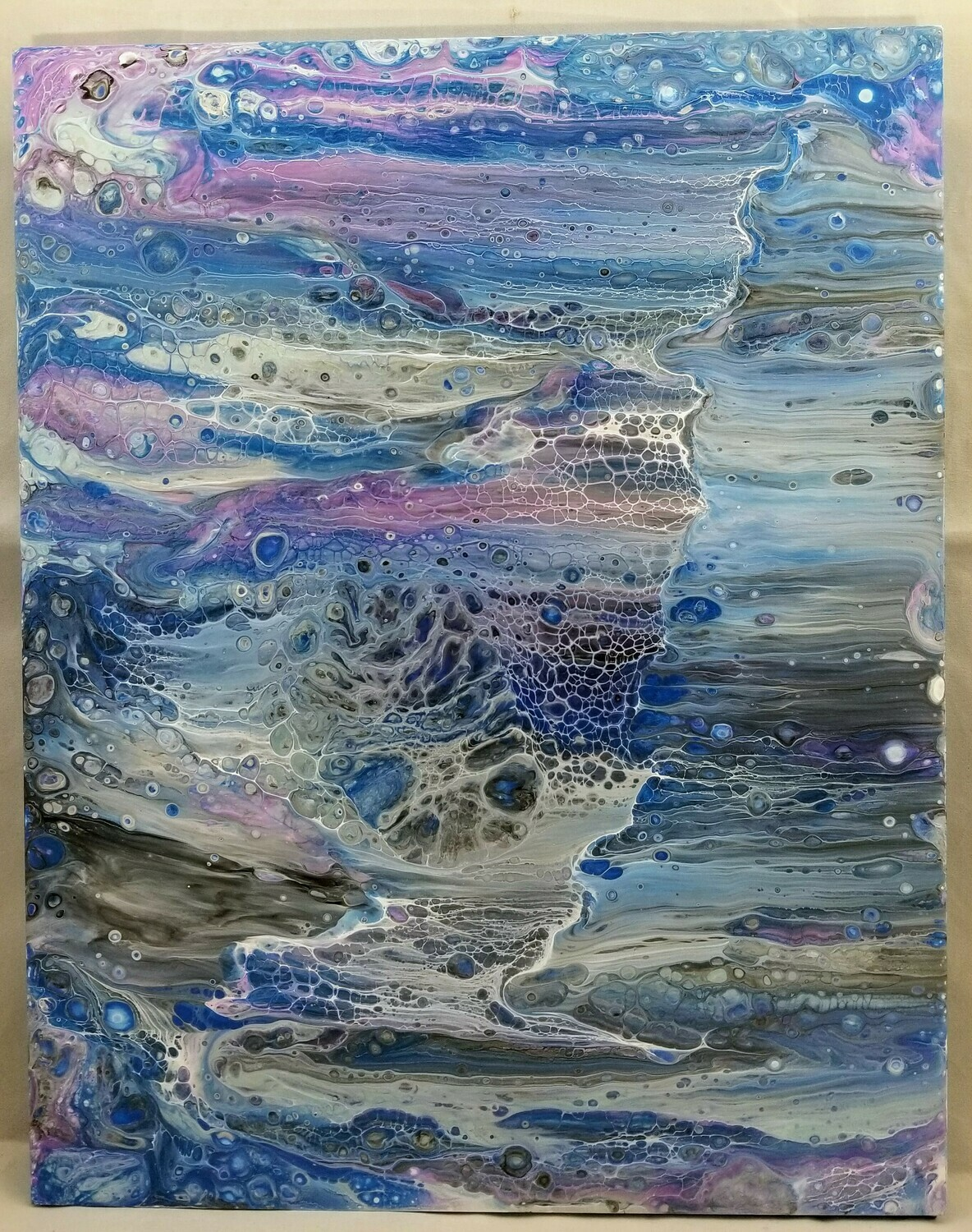 11x14 Abstract Painting on Glass