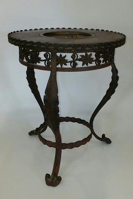 French Bronze and Forged Iron Table of MARIE ANTOINETTE