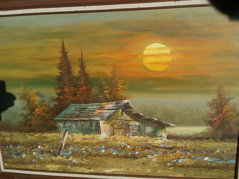 H. Antone Oil on board painting