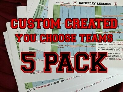 Custom Created 5-Pack (SL)