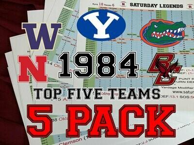 1984 Top 5 Teams pack