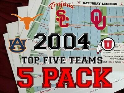 2004 Top 5 Teams pack