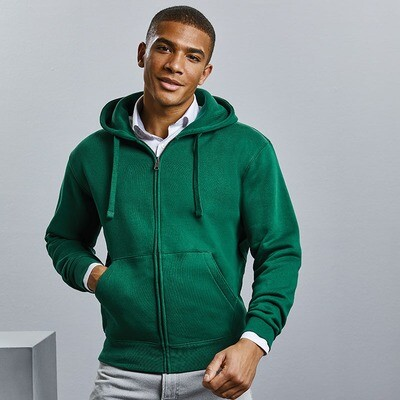 J266M Russell Authentic zipped hooded sweat