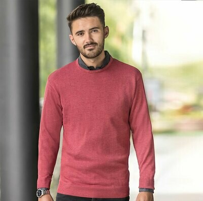 J717M Russell Collection Crew neck knitted pullover