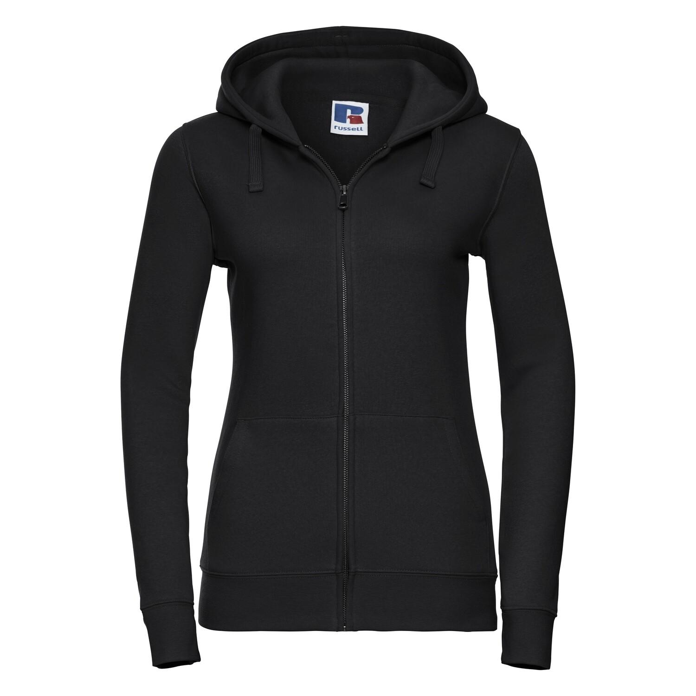 J266F Russell Women's authentic zipped hooded sweatshirt
