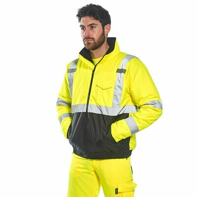 S363 Portwest Hi-Vis two tone bomber jacket