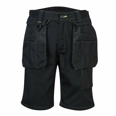 PW345 Portwest Work shorts with zip-off pockets