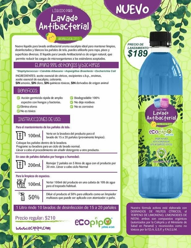 Lavado antibacterial