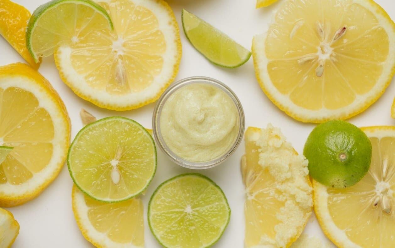 Exfoliante labial de margarita