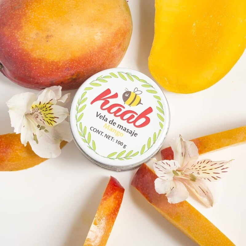 Vela de masaje de mango