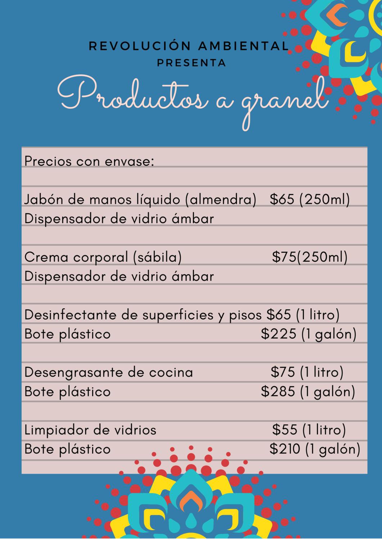 Productos a granel - CON ENVASE