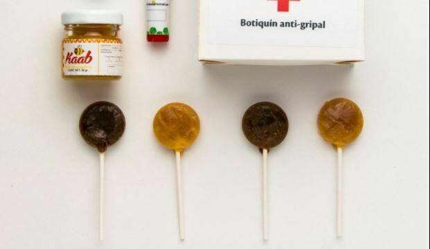 Bolsa de paletas de miel de abeja