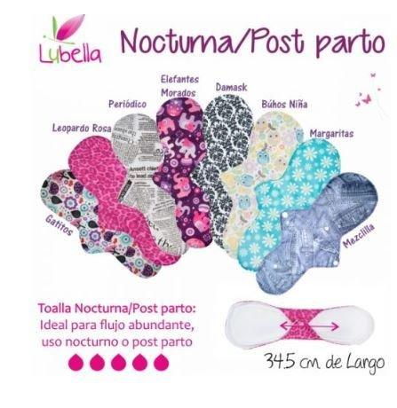 Toalla Femenina de Tela - Nocturna/Posparto