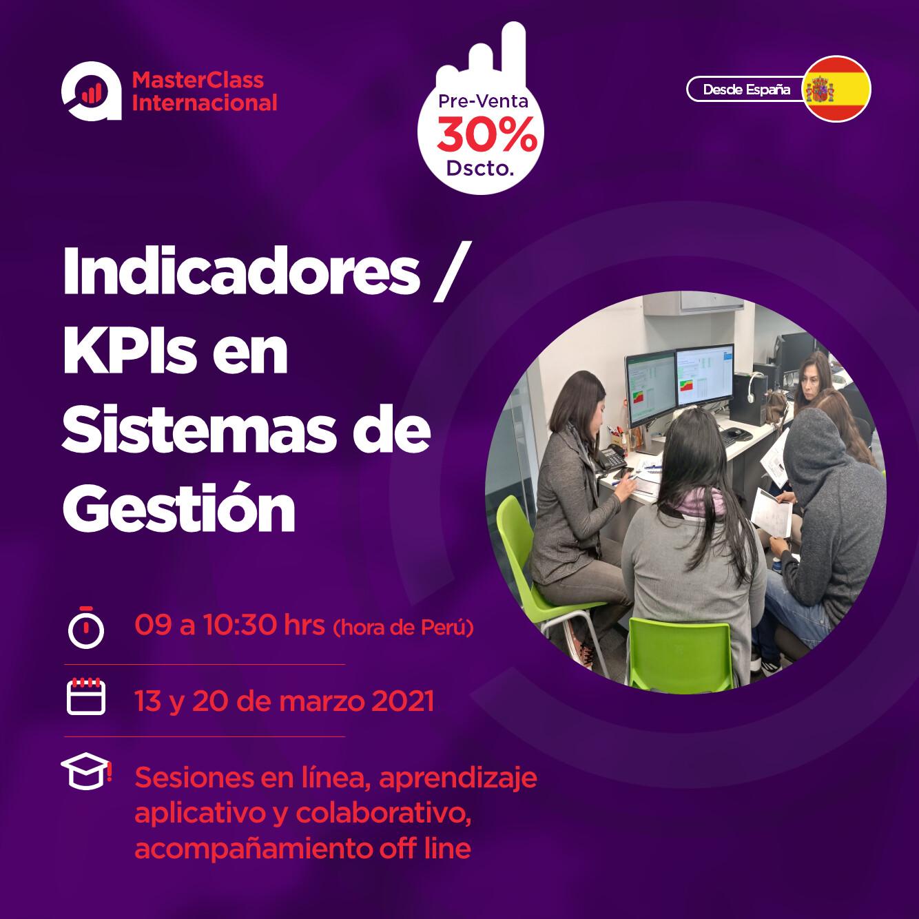 MasterClass: Indicadores - KPIs en Sistemas de Gestion