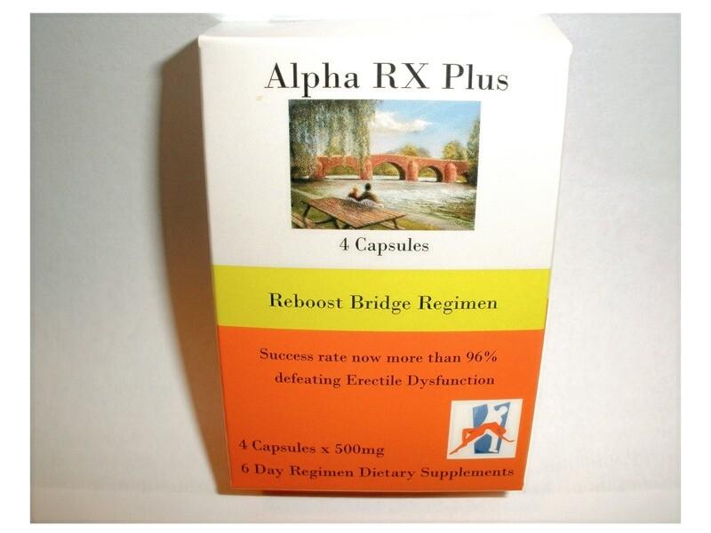 4 capsule box Alpha RX Plus-rebuild after water loss.