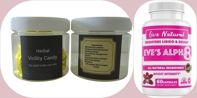 Lovers night combo 2 with candy & Eve's at a 10% discount.