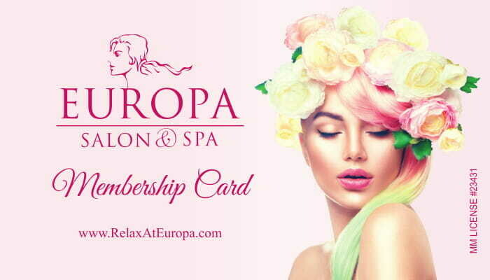 A YEAR TO REMEMBER (Get a $75 Gift card on us) Europa Spa 12 month membership Holiday special