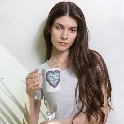 Gate address to my heart - cute valentine mug