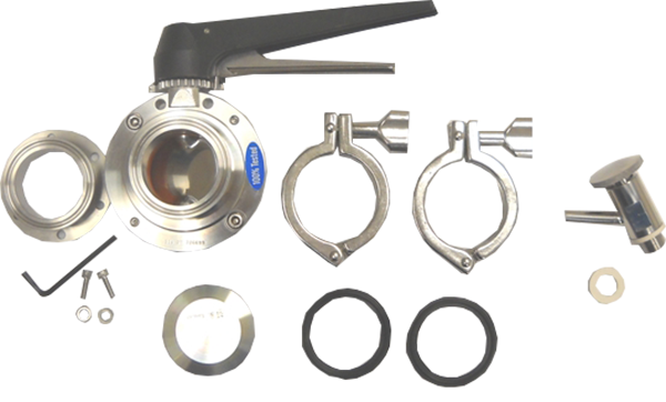 AK1T - Combo 6-Bolt Flange Accessory Kit 1.5 in. (Includes VF1, BV3 and SV1T )