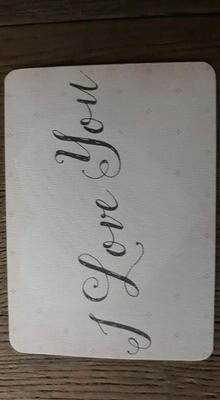 kaart 'I love you'