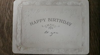 kaart 'Happy birthday'