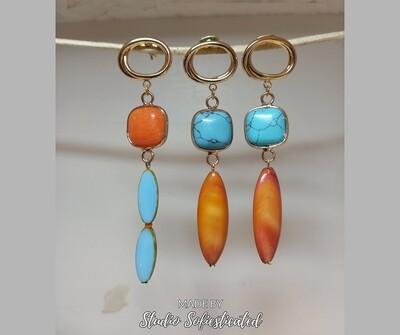 Oranje/blauw
